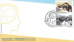 COSTA RICA EDUCATION FOR ALL Sc 668 FDC 2015 - Costa Rica