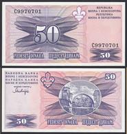 Bosnia & Herzegovina - 50 Dinara Banknote 1995 UNC Pick 47   (14423 - Bosnia Y Herzegovina