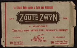 8 Cartes - 1914-1918 - Zoute Zwyn à Knocke - Littoral Belge Après La Fuite Des Allemands - Batterie Brémen .. Voir Scans - Knokke