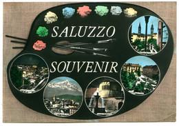 Piemonte - 12037 Souvenir De SALUZZO - Vedute E Tavolozza Colori - Vera Fotografia - Andere Städte