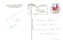 ROULETTE VOSGES CP 1968 BAINS LES BAINS 0?25 COQ DE DECARIS ROULETTE DENTS MASCICOTEES SUR LES COTES - 1962-65 Haan Van Decaris