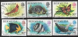 Bermuda   1978-9  Sc#367, 372-5, 377  6 Diff Flora & Fauna To The $2  Used  2016 Scott Value $7 - Bermudas