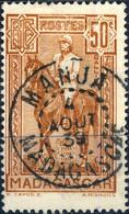 "MADAGASCAR - 1939 CàD ""MANJA"" Sur Yv.190 50c Galliéni Litho. - Obl. TB - Gebruikt"