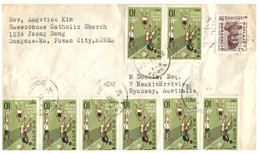 (LL 1) South Korea - Cover Posted To Australia / Many Stamps (1969 Volleyball) - Korea (...-1945)
