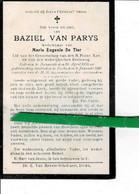 Baziel Van Parys Wed Marie De Tier O Nazareth 1853 + Eke 1921 - Images Religieuses