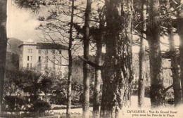Dept 83,Var,Cpa Cavalaire,Vue Du Grand Hôtel Prise Sous Les Pins De La Plage - Cavalaire-sur-Mer