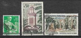 Algérie  N° 354 : 357 Et 358  EA Tlemcen Type  15.2 Oblitérés    B/T B  Voir Scans  Soldé ! ! ! - Used Stamps