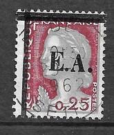 Algérie  N° 355  Surchargé EA Sétif Type  12 T12  Oblitéré  Sétif Le 29/07/1962      B/T B  Voir Scans  Soldé ! ! ! - Used Stamps