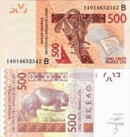 Benin - West African States 2012 - 500 Francs - Pick 219B UNC Letter B - Benin