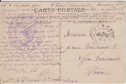 MANCHE CP 1915 COUTANCES HOPITAL COMPLEMENTAIRE N°49 COUTANCE SIS A L'ANCIEN SEMINAIRE - 1877-1920: Semi-Moderne