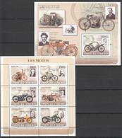 UC104 2008 UNION DES COMORES MOTORCYCLES LES MOTOS 1KB+1BL MNH - Motorbikes