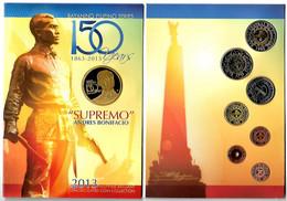 PHILIPPINES: Set De L'année 2013 Et L'anniverssaire De BONIFACIO 150 Ans UNC Sous Blister. - Filippine
