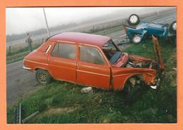 PHOTO ORIGINALE - ACCIDENT DE VOITURE SIMCA 1100 - CRASH CAR - Cars