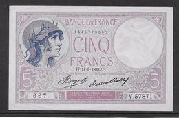 France 5 Francs Violet Type 1917 - 14-9-1933 - SPL - 5 F 1917-1940 ''Violet''