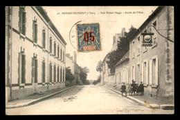 """18 - HENRICHEMONT - RUE VICTOR HUGO - ECOLE DE FILLES - CACHET """"PATRONAGE ST-LAURENT"""" AU VERSO - TIMBRE SURTAXE - Henrichemont"""