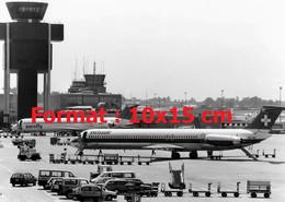 Reproduction Photographie Ancienne D'avions Sur Les Pistes De L'aéroport De Genève-Cointrin En Suisse 1997 - Riproduzioni