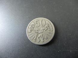 Czechoslowakia 50 Haleru 1922 - Checoslovaquia