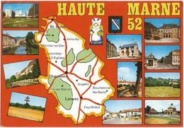 CPM De La HAUTE-MARNE (52) – Carte Du Département, Multivues. Editions MAGE, Drancy. - Ohne Zuordnung