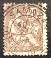 126 ° 1 Lot Et Garonne Samazan Tireté Mouchon 20 C Brun Lilas 7/4/1905 Oblitéré - 1877-1920: Semi-Moderne
