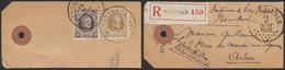 Houyoux - N°196 Et 203 Sur étiquette De Colis En Recommandé De Herenthals (1926) > Arlon / Echantillon - 1922-1927 Houyoux
