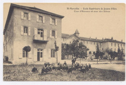 SAINT MARCELLIN Ecole Supérieure De Jeunes Filles - Cour D'Honneur Et Cour Des Elèves- Bon état - Saint-Marcellin