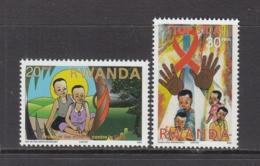 2003 Rwanda Rwandaise Aids Sida Health Two Low Values MNH - Other