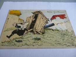 CP14/18 LE KAISER GUILLAUME CHASSE  HONTEUSEMENT DES WC FRANCAIS - 1914-18
