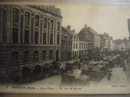 BAILLEUL     Marché    Rue D'Ypres - Other Municipalities
