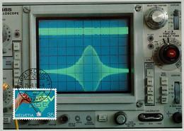 Schweiz / Helvetia 1989, Maximumkarte Elektrotechnischer Verein SEV - Elettricità