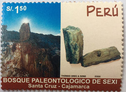 PERU Mnh  2000 STAMP ON BOSQUE PALEONTOLOGICO DE SEXI Santa Cruz Cajamarca - Peru