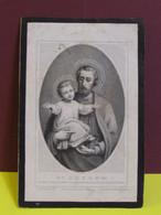 VAN OVERSTRAETEN Alphonse Auguste  *1844 Hamme  +1869 Alost  Professeur A L'institut St Lievin A Gand - Obituary Notices