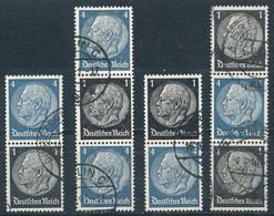 Deutsches Reich Zusammendrucke S 171 - 174 Gestempelt Mi. 10,50 - Se-Tenant