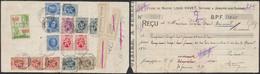 Affranch. Coloré (Houyoux / Lion Héraldique) Au Verso D'un Reçu Jemeppe-S-Sambre (1931) / Absent, Refusé - 1922-1927 Houyoux