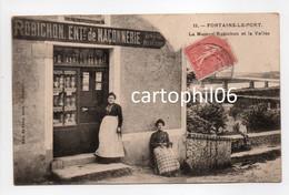 - CPA FONTAINE-LE-PORT (77) - La Maison Robichon Et La Vallée (EPICERIE Et MERCERIE) - Edition Féjard N° 11 - - Other Municipalities
