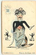 Pierre Puvis De Chavannes - Dessins De Charlie Chaplin - Carte Peinte à La Main - Altre Illustrazioni