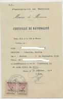 TIMBRES FISCAUX DE MONACO TIMBRE ETAT CIVIL MAIRIE DE MONACO PAIRE DU N°9  10 F ROUGE - Fiscale Zegels