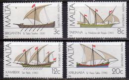 MALTA 1982 MALTESE SAILING SHIPS NAVI A VELA MALTESI COMPLETE SET SERIE COMPLETA MNH - Malta