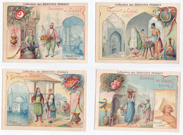 Séries De Chromos Biscuit Pernot Excursion En Orient, Turquie, Bulgarie, Egypte, Grèce, Tunisie, Perse - Unclassified
