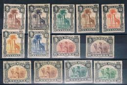 Companhia De Nyassa, 1901, # 27/39, MH - Nyassaland