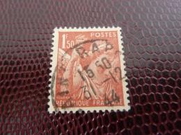 TYPE IRIS - 1f.50 - Rouge-brun - Oblitéré - Année 1944 - - 1939-44 Iris
