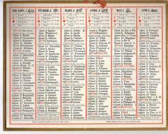 CALENDRIER GF 1939 - Sans Texte Et Sans Photo-image, édition Des P&T - Tamaño Grande : 1921-40