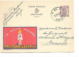 SH 0866. PUBLIBEL 875 (PELTZER) AGENCE LIEGE * 29 * 14.9.49 Vers Marcinelle. TB - Postmarks With Stars