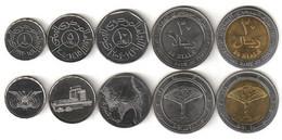 Yemen - Set 5 Coins 1 5 10 20 20 Rials 1993 - 2009 UNC Lemberg-Zp - Yemen