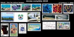 WALLIS ET FUTUNA Année Complète 2010 - Yv. 728 à 744 ** MNH - 17 Timbres  ..Réf.W&F23103 - Full Years