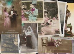 CARTES FANTAISIES - LOT DE 900 CPA 9 X 14 ET DE 130 CPSM-CPM 10 X 15 - 100 - 499 Postcards