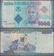 TANZANIA - 1000 Shillingi ND (2010-) P# 41 Africa Banknote - Edelweiss Coins - Tanzania