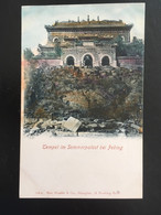 CPA CHINE ÉDITION ALLEMANDE TEMPEL IM SOMMERPALAST PEKING - China