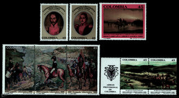 Colombie Colombia 1989 Yvert 934-41, Liberty Campaign, Bolivar - MNH - Colombia