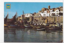 ESPAGNE: PENISCOLA (Castellon), Le Port De Pêche, Bateaux, Blason, Ed. Comas Aldea 1985 - Non Classés