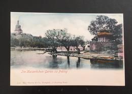 CPA CHINE ÉDITION ALLEMANDE PEKING GARTEN ZU PEKING - China